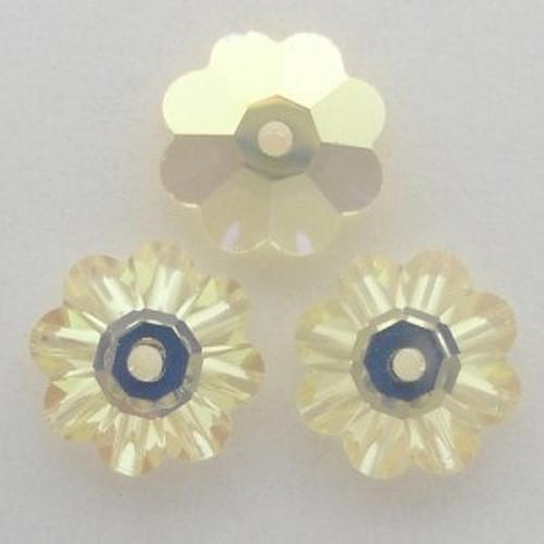 Swarovski 3700 10mm Marguerite Beads Jonquil AB