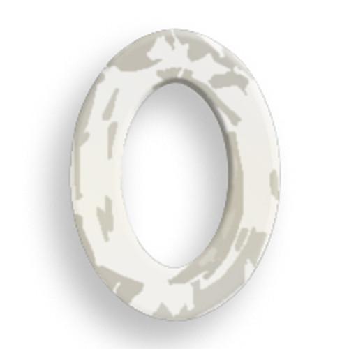 Swarovski 4137 22mm Oval Ring Beads x16 Crystal Silver Shade