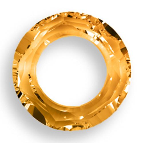Swarovski 4139 14mm Round Ring Beads Crystal Copper CAL