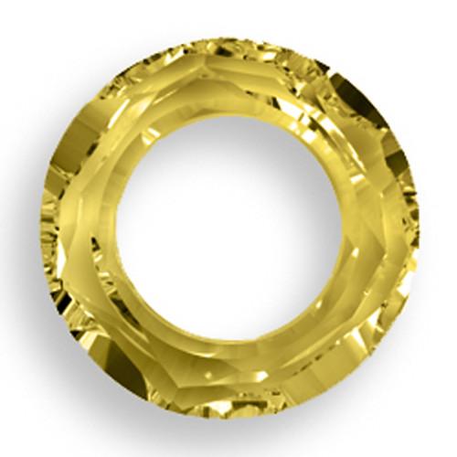 Swarovski 4139 14mm Round Ring Beads Crystal Tabac