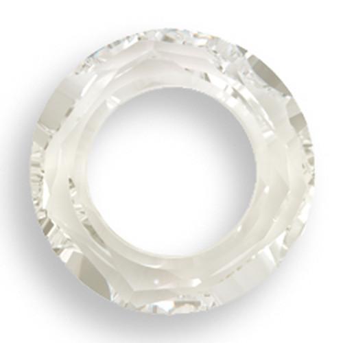 Swarovski 4139 30mm Round Ring Beads Crystal Silver Shade