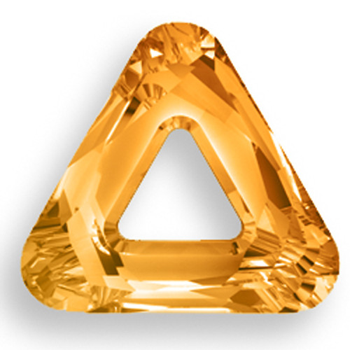 Swarovski 4737 14mm Triangle Beads Crystal Copper