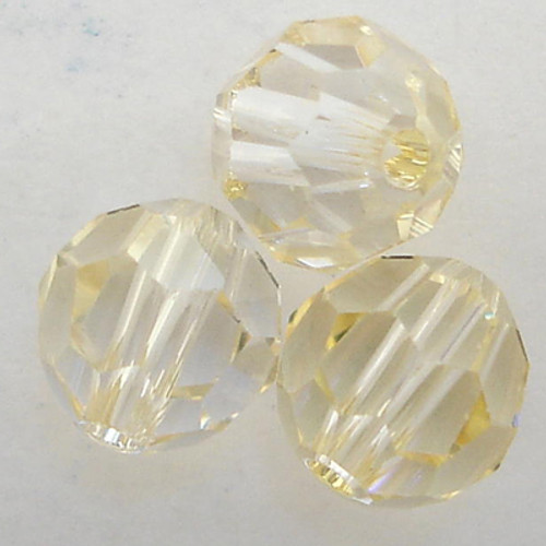 On Hand: Swarovski 5000 10mm Round Beads Crystal Champagne  (12 pieces)