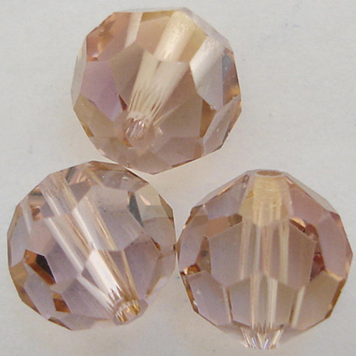 On Hand: Swarovski 5000 10mm Round Beads Light Amethyst Champagne  (12 pieces)
