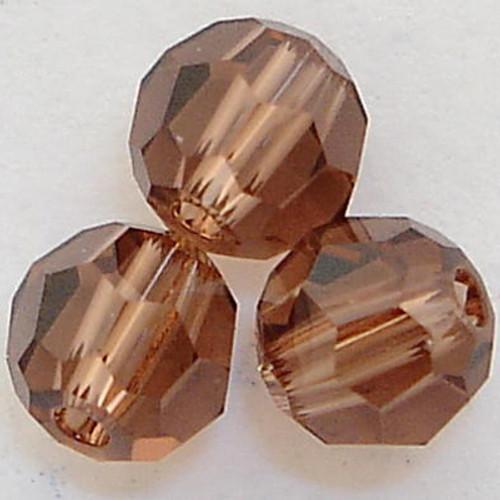 On Hand: Swarovski 5000 4mm Round Beads Colorado Topaz  (72 pieces)