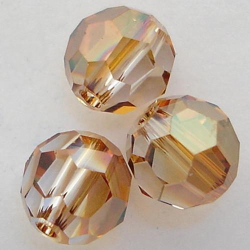 On Hand: Swarovski 5000 4mm Round Beads Crystal Copper  (72 pieces)