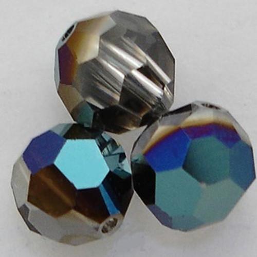 On Hand: Swarovski 5000 4mm Round Beads Crystal Metallic Blue  (72 pieces)