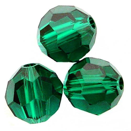 On Hand: Swarovski 5000 4mm Round Beads Emerald  (72 pieces)