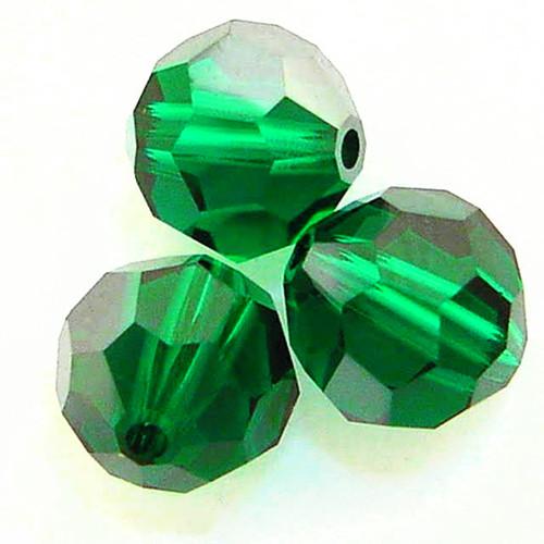 On Hand: Swarovski 5000 4mm Round Beads Emerald Satin  (72 pieces)