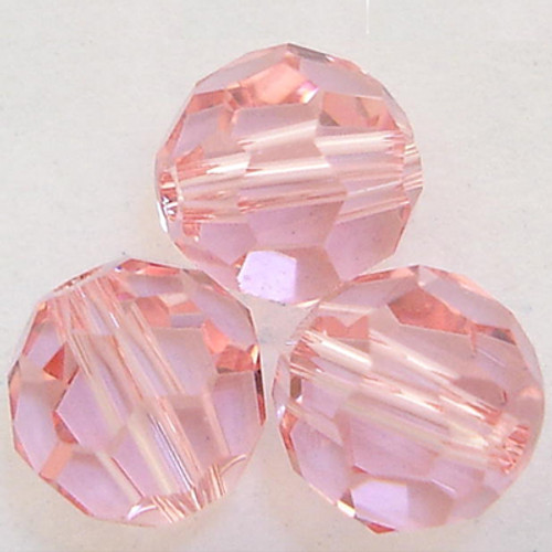 On Hand: Swarovski 5000 4mm Round Beads Light Rose  (72 pieces)