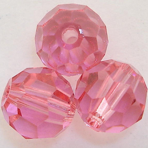 On Hand: Swarovski 5000 4mm Round Beads Rose  (72 pieces)