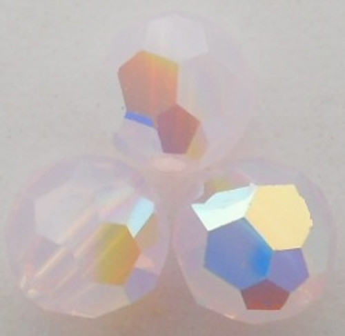 On Hand: Swarovski 5000 4mm Round Beads Rose Water Opal AB  (72 pieces)