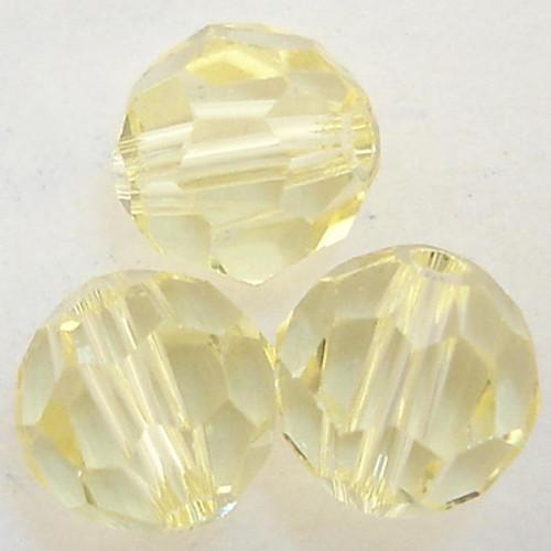 On Hand: Swarovski 5000 5mm Round Beads Jonquil  (36 pieces)
