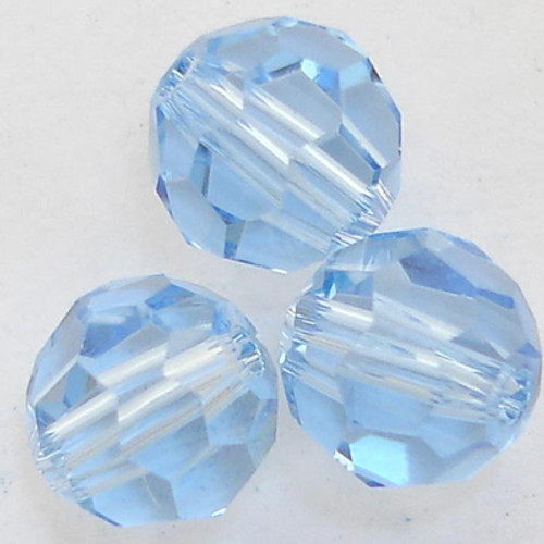 On Hand: Swarovski 5000 5mm Round Beads Light Sapphire  (36 pieces)