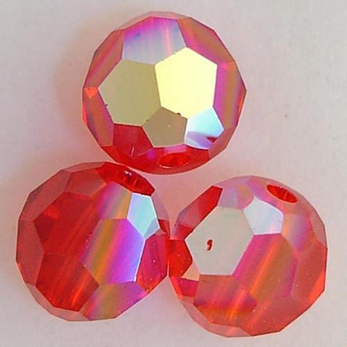 On Hand: Swarovski 5000 5mm Round Beads Light Siam AB  (36 pieces)