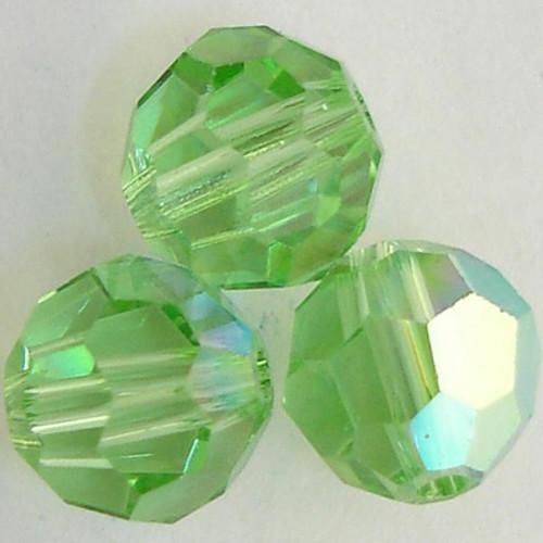 On Hand: Swarovski 5000 5mm Round Beads Peridot AB  (36 pieces)