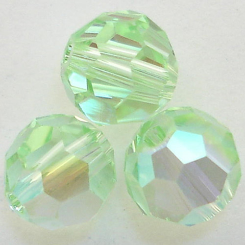On Hand: Swarovski 5000 6mm Round Beads Chrysolite AB  (36 pieces)