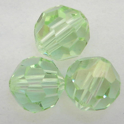 On Hand: Swarovski 5000 6mm Round Beads Chrysolite Champagne  (36 pieces)