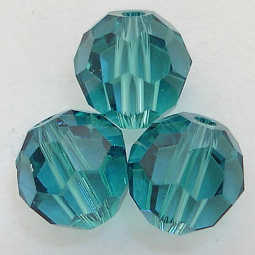 On Hand: Swarovski 5000 6mm Round Beads Indicolite  (36 pieces)