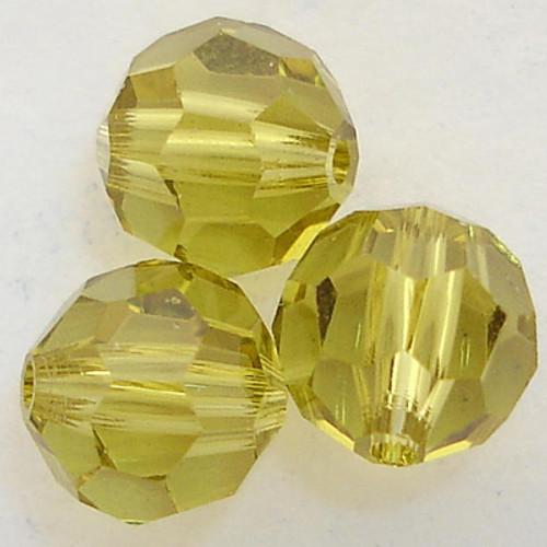 On Hand: Swarovski 5000 6mm Round Beads Lime  (36 pieces)