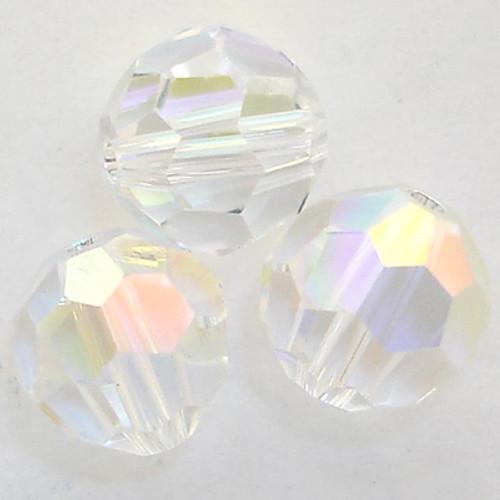 On Hand: Swarovski 5000 7mm Round Beads Crystal AB   (12 pieces)
