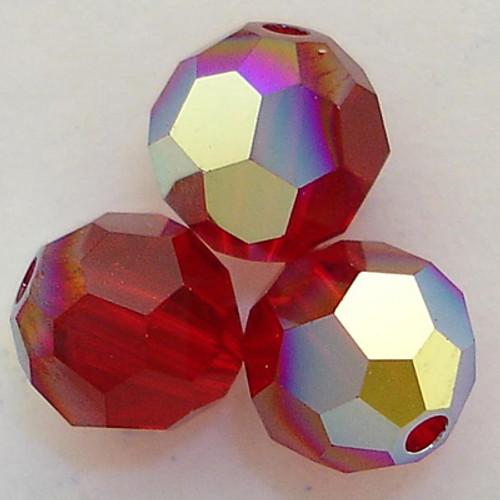 On Hand: Swarovski 5000 7mm Round Beads Siam AB   (12 pieces)