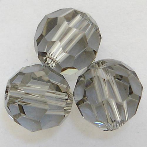 On Hand: Swarovski 5000 8mm Round Beads Black Diamond  (12 pieces)