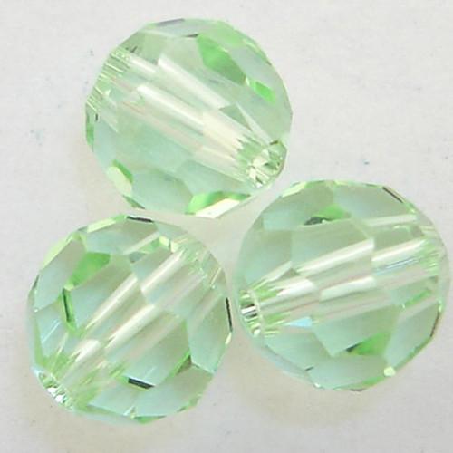 On Hand: Swarovski 5000 8mm Round Beads Chrysolite  (12 pieces)