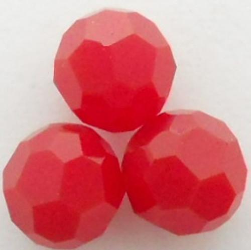 On Hand: Swarovski 5000 8mm Round Beads Dark Red Coral  (12 pieces)