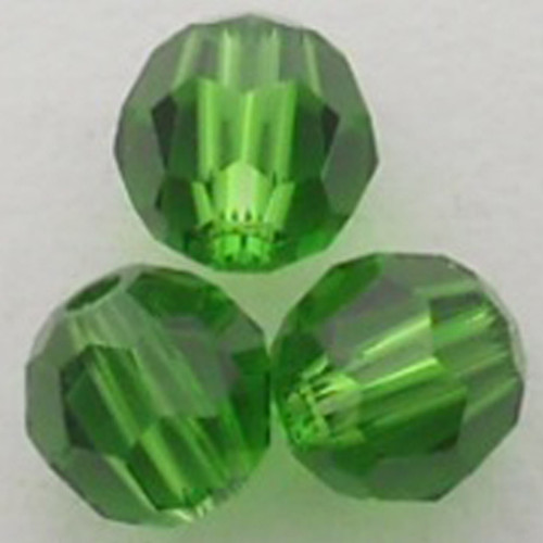 Swarovski 5000 8mm Round Beads Fern Green