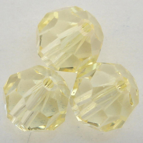 Swarovski 5000 8mm Round Beads Jonquil Champagne