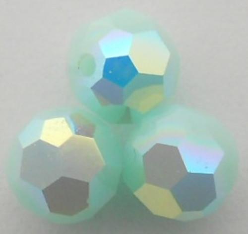On Hand: Swarovski 5000 8mm Round Beads Mint Alabaster AB  (12 pieces)