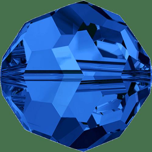 On Hand: Swarovski 5000 8mm Round Beads Sapphire  (12 pieces)