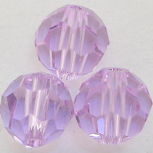 On Hand: Swarovski 5000 8mm Round Beads Violet  (12 pieces)