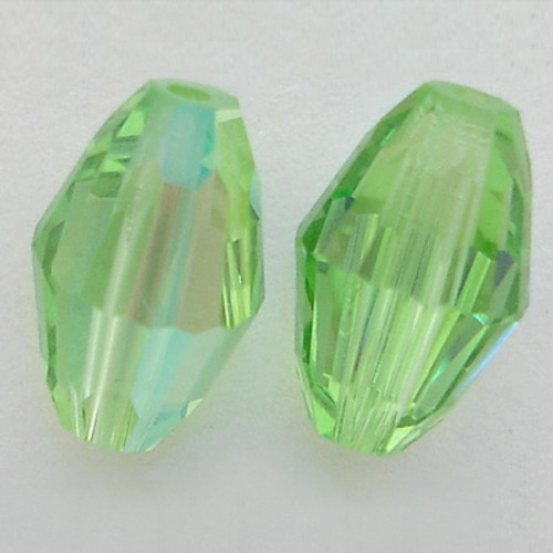 On Hand: Swarovski 5200 9mm Oval Beads Peridot AB  (12 pieces)