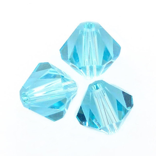 On Hand: Swarovski 5328 4mm Xilion Bicone Beads Aquamarine   (72 pieces)