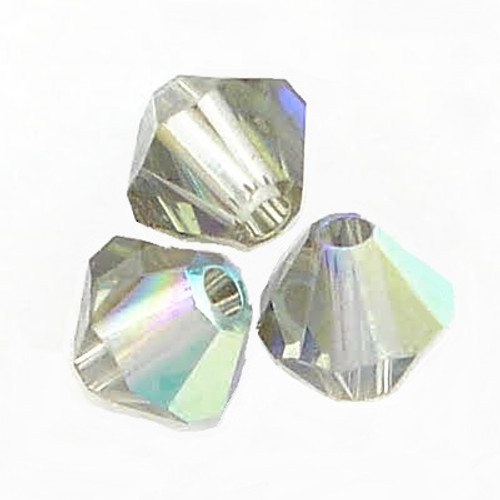 On Hand: Swarovski 5328 4mm Xilion Bicone Beads Black Diamond AB   (72 pieces)
