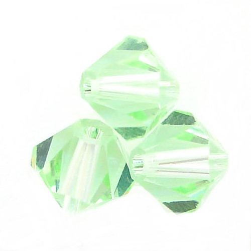 On Hand: Swarovski 5328 4mm Xilion Bicone Beads Chrysolite   (72 pieces)