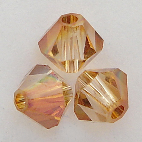 Swarovski 5328 4mm Xilion Bicone Beads Crystal Copper
