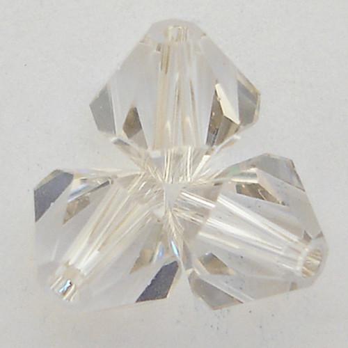 Swarovski 5328 4mm Xilion Bicone Beads Crystal Silver Shade