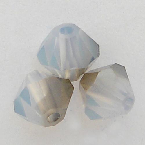 Swarovski 5301 4mm Bicone Beads White Opal Satin