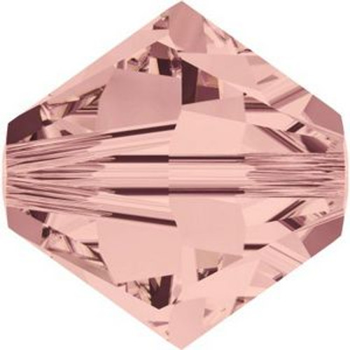 Swarovski 5328 6mm Xilion Bicone Beads Blush Rose