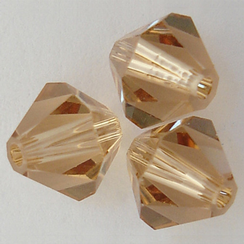 Swarovski 5328 6mm Xilion Bicone Beads Light Colorado Topaz