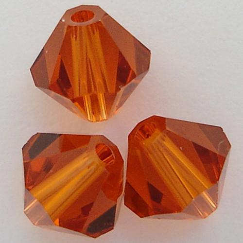Swarovski 5301 8mm Bicone Beads Indian Red