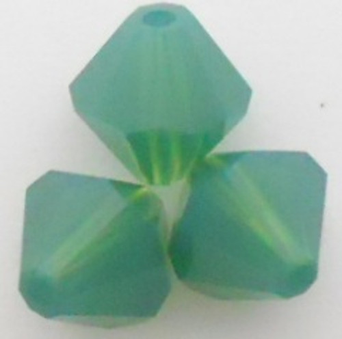 Swarovski 5301 8mm Bicone Beads Palace Green Opal
