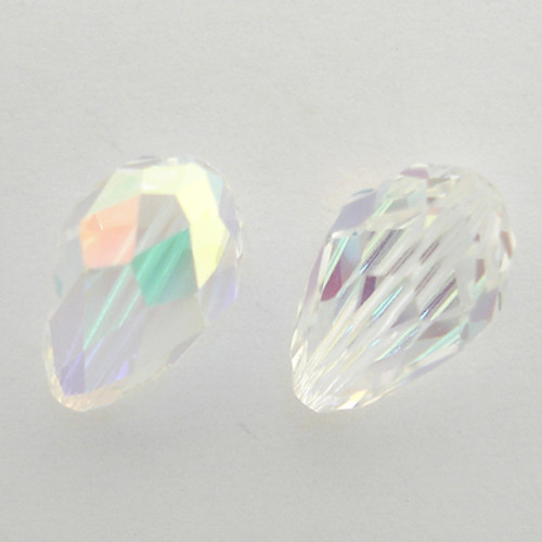 Swarovski 5500 9mm Pearshape Beads Crystal AB