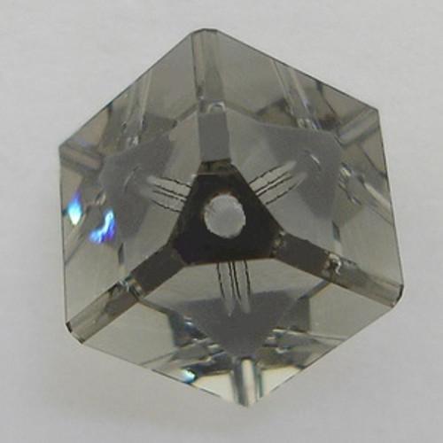 Swarovski 5600 6mm Offset Cube Beads Black Diamond