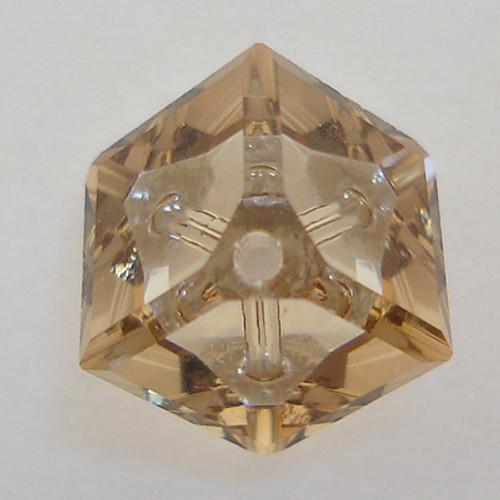 Swarovski 5600 6mm Offset Cube Beads Crystal Golden Shadow
