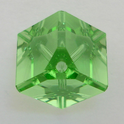 Swarovski 5600 8mm Offset Cube Beads Peridot