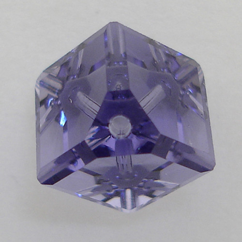 Swarovski 5600 8mm Offset Cube Beads Tanzanite